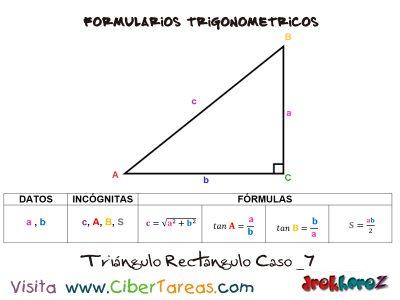 Formulario Trigonométrico – Resolución de Triángulos Rectángulos 7