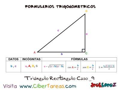 Formulario Trigonométrico – Resolución de Triángulos Rectángulos 9