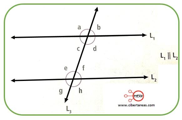 Ángulos formados por dos rectas paralelas y una secante – Matemáticas 2 4