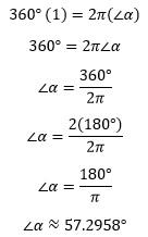 Conversión de ángulos en grados a radianes y viceversa – Matemáticas 2 16