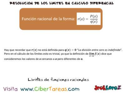 Límites de Funciones Racionales – Cálculo Diferencial 0