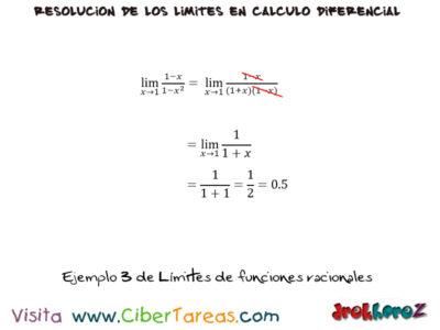 Límites de Funciones Racionales – Cálculo Diferencial 3