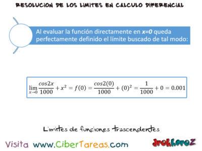 Los Límites de Funciones Trascendentes – Cálculo Diferencial 1