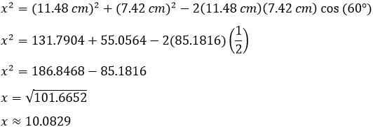 Ley de cosenos – Matemáticas 2 17