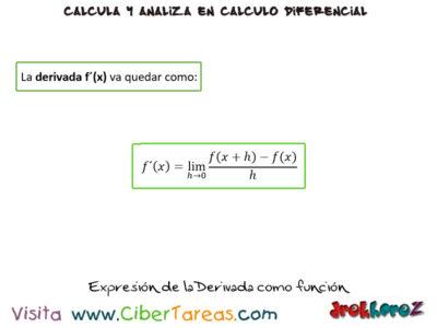 La Derivada como función – Cálculo Diferencial 0