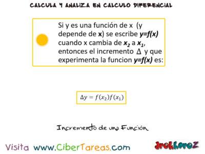 El Incremento de una variables en una función – Cálculo Diferencial 2
