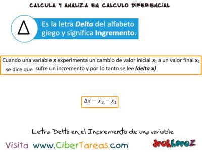 El Incremento de una variables en una función – Cálculo Diferencial 0