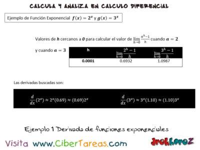 Ejemplos de derivadas de funciones exponenciales – Cálculo Diferencial 0