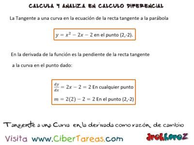 Ejemplo en la derivada como razón de cambio – Cálculo Diferencial 0