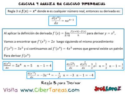 Las Reglas para Derivar – Cálculo Diferencial 3
