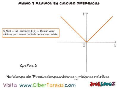 Variaciones en las producciones máximos y mínimos relativos – Cálculo Diferencial 1