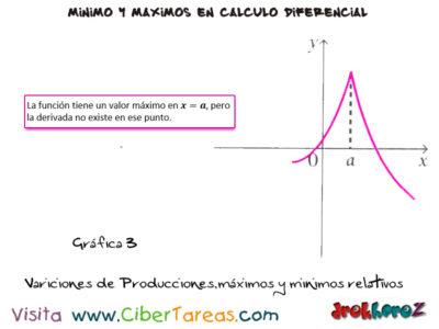 Variaciones en las producciones máximos y mínimos relativos – Cálculo Diferencial 2