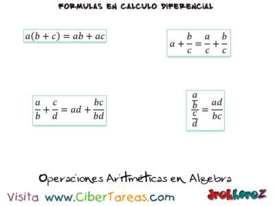 Operaciones Aritméticas en Álgebra Fórmulas Matemáticas – Cálculo Diferencial 0