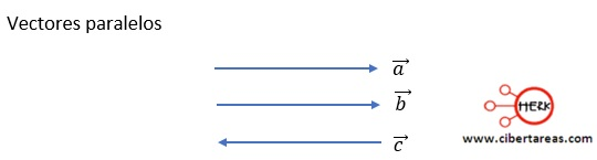 vectores paralelos