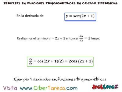 Ejemplo de las reglas para derivar las funciones trigonométricas – Cálculo Diferencial 0
