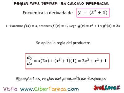 Ejemplos de la regla del producto de funciones para derivar – Cálculo Diferencia 0