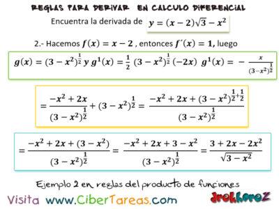 Ejemplos de la regla del producto de funciones para derivar – Cálculo Diferencia 1