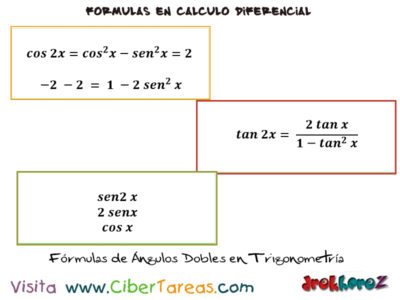 Fórmulas de ángulos dobles trigonometría – Cálculo Diferencial 0