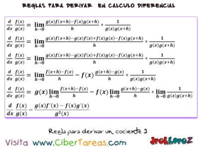 La regla para derivar un consciente – Cálculo Diferencial 1