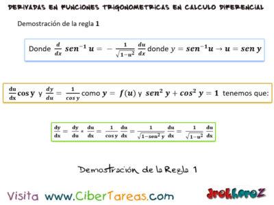 Las reglas para derivar las funciones trigonométricas inversas – Calculo Diferencial 1
