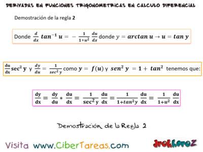 Las reglas para derivar las funciones trigonométricas inversas – Calculo Diferencial 2