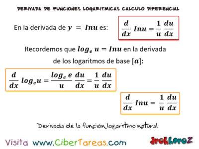 La Derivada de la Función Logaritmo Natural – Cálculo Diferencial 0