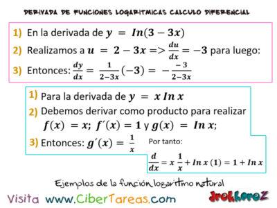 Ejemplo de la Función logaritmo natural – Cálculo Diferencial 0