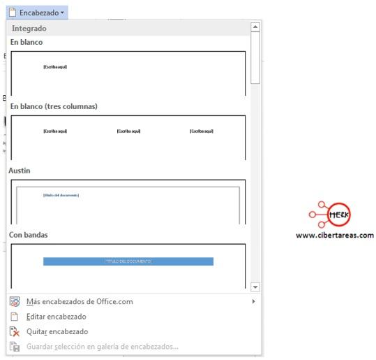 Como insertar un pie de página y encabezado en Word – Gestión de archivos de texto 3