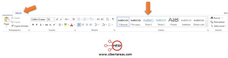 Como insertar un índice de manera automática – Gestión de Archivos de texto 5