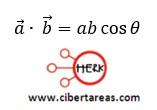Producto entre dos vectores, producto escalar – Física 1 1