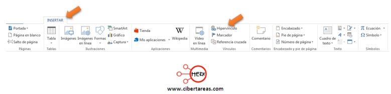 Como insertar un hipervínculo – Gestión de archivos de texto 3