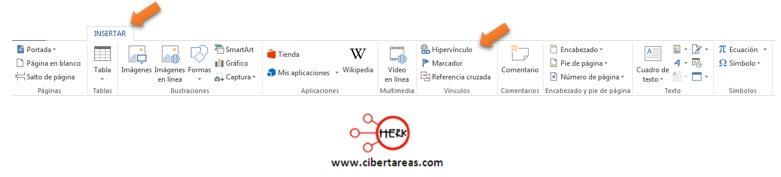 Como insertar un hipervínculo – Gestión de archivos de texto 0