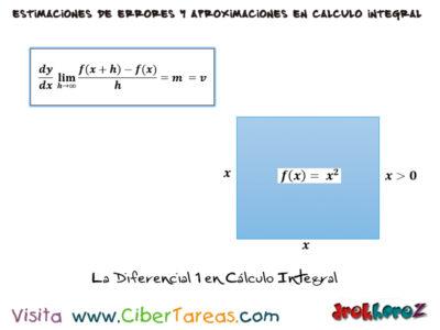 La Diferencial en el Cálculo Integral 0