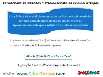 Ejemplos de Estimaciones de Errores – Cálculo Integral 0
