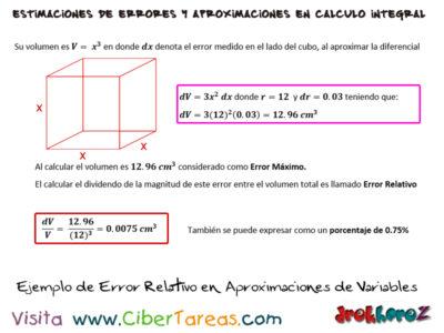 Ejemplos de Estimaciones de Errores – Cálculo Integral 1