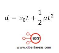 Movimiento rectilíneo con aceleración constante, ejemplo – Física 1 12
