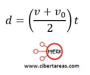 Distancia recorrida por un cuerpo en función de sus velocidades – Física 1 2