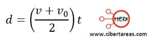 Distancia recorrida por un cuerpo en función de sus velocidades – Física 1 8