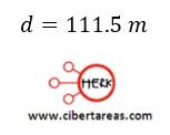 Distancia recorrida por un cuerpo en función de sus velocidades, ejemplo – Física 1 3