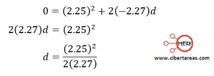 Distancia recorrida por un cuerpo en función de sus velocidades, ejemplo – Física 1 2