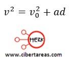 Distancia recorrida por un cuerpo en función de sus velocidades, ejemplo – Física 1 1