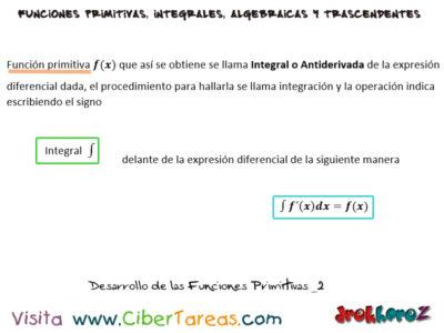Funciones Primitivas – Cálculo Integral 0