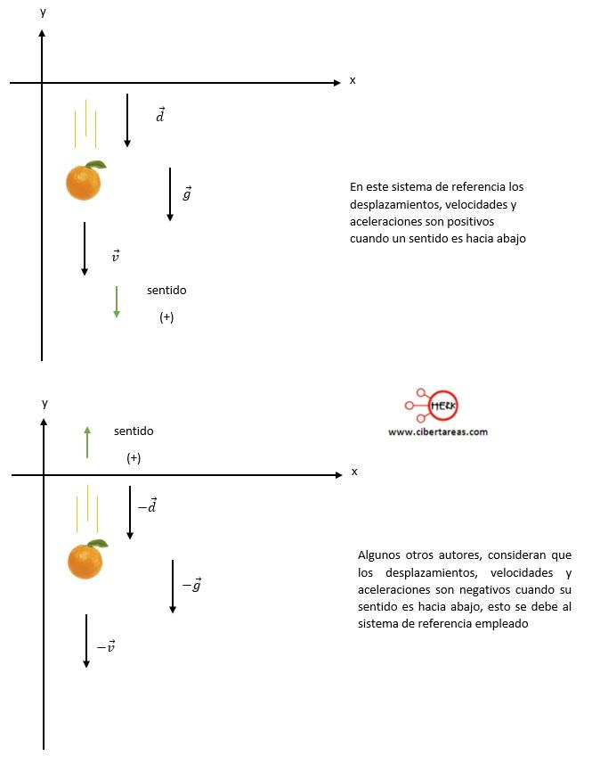 Caída libre en sentido negativo – Física 1 0