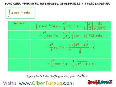 Ejemplos de Integración por Partes – Cálculo Integral 1