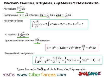 Integral de la Función Exponencial con Ejemplos – Cálculo Integral 2