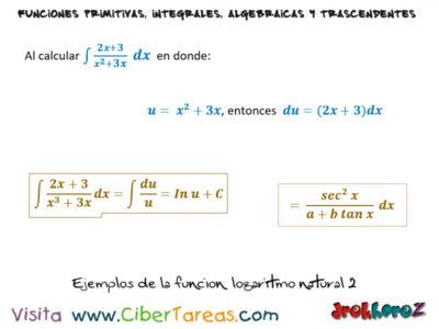 Integral de la Función Logaritmo Natural y Ejemplos – Cálculo Integral 3