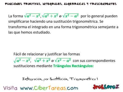 Integración por Sustitución Trigonométrica – Cálculo Integral 0