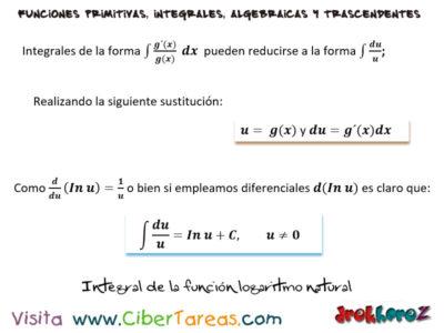 Integral de la Función Logaritmo Natural y Ejemplos – Cálculo Integral 0