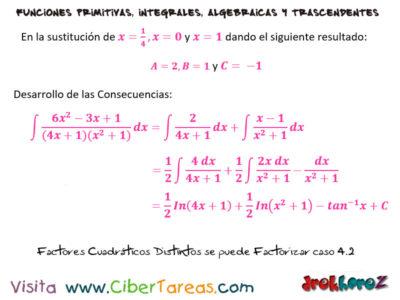 Factores Cuadráticos distintos que no se pueden factorizar Caso 4 ejemplos – Cálculo Integral 1