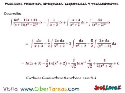 Factores Cuadráticos Repetidos del caso 5 ejemplos – Cálculo Integral 1